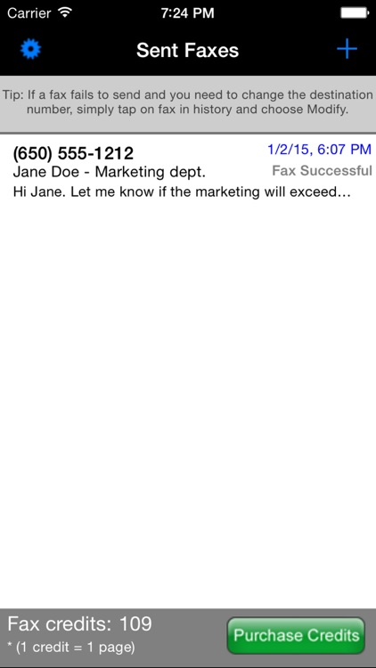 Faxer™ (a US800.com service) screenshot-0