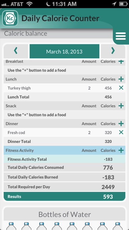 My Ideal Weight: Diet tracker and calorie counter