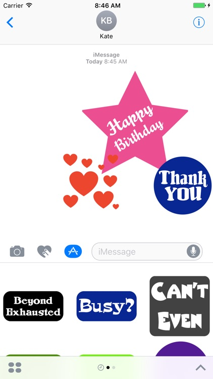 Sticker Phrase - stickers for iMessages screenshot-4