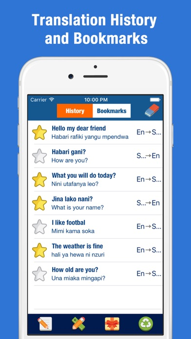 Swahili English Translator - Kiswahili / Kenya Screenshot on iOS