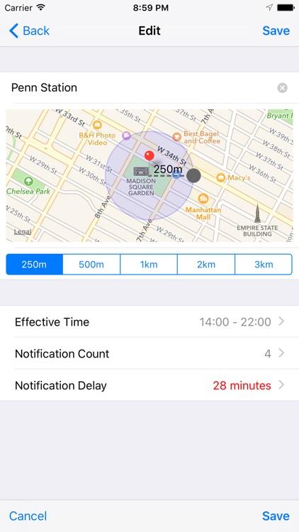 iGeoAlarm - Battery Friendly Location Alarm