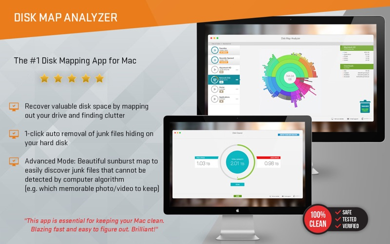 Disk Map Analyzer - 2 in 1 - Clean Your Hard Drive