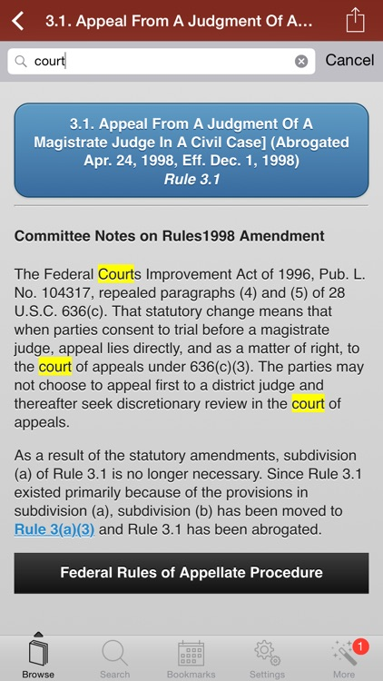Federal Rules of Appellate screenshot-0