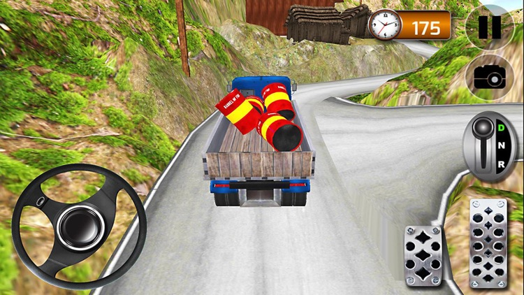 Hill Climb Truck Driving Simulator 3D screenshot-0