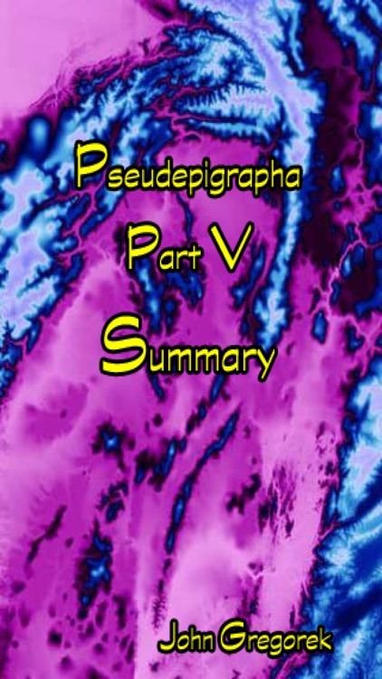 Summary Pseudepigrapha Books (part-5)