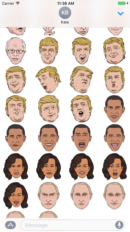 Celebmoji Politics Stickers–Trump, Clinton, Obama screenshot-3