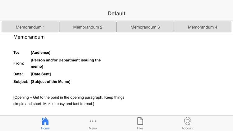 Memorandum Letter screenshot-4