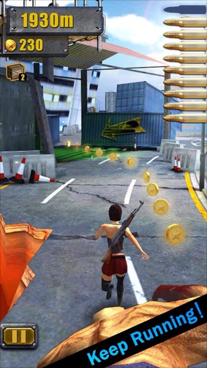 3D City Run Hot-The most classic girl zombie game! screenshot-4
