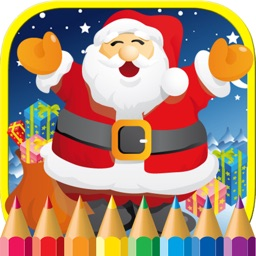 Christmas Coloring Page Book Santa Claus for Kids