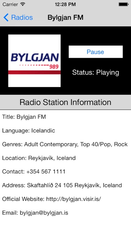 Iceland Radio Live Player (Icelandic, Ísland) screenshot-3
