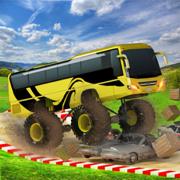 公共汽车特技4x4怪物卡车山驾驶