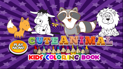 cute animal coloring for kid-learn skill easy toddler game free screenshot two
