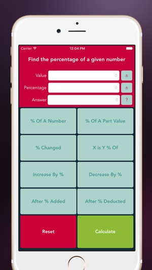 Percentage Calculator Free on the App Store