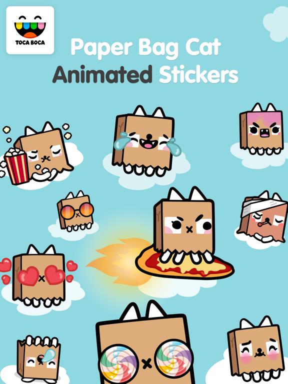 Toca Life Paper Bag Catのおすすめ画像1