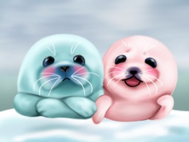 Bubble & Mint Seal Stickers for Text Messages