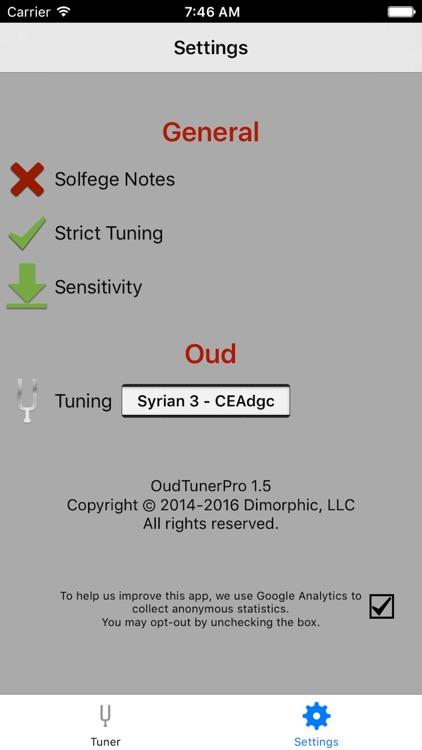 Oud Tuner Pro screenshot-3