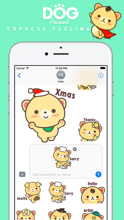 Peanut Dog Sticker Pro - Christmas New Year Emoji