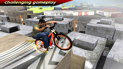 Extreme City Rooftop Free-Style Bike Rider Stunts