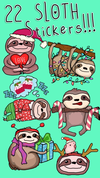 Christmas Holiday Sloths
