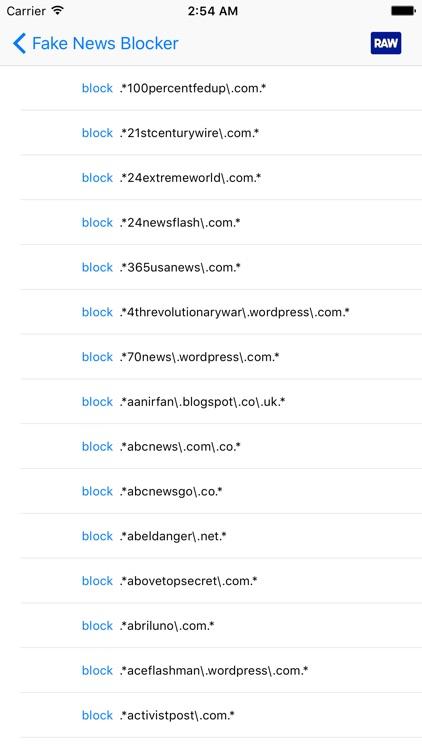 Fake news blocker