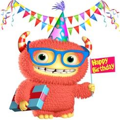 Happy Birthday Animated Emojis GIFs 4