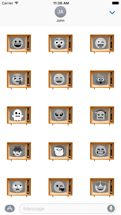 Black & White Emoji TV