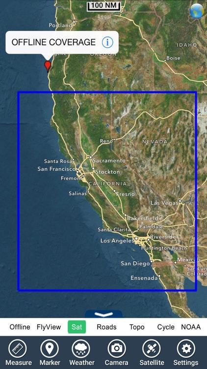 California fishing HD - GPS Map Navigator screenshot-4