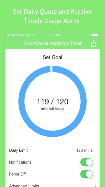 Cell Phone Addiction Timer - Screen Time Unplugged