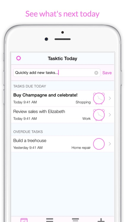 Tasktic - manage your tasks, not a task manager