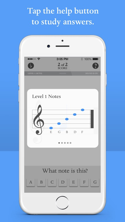 Blue Note: Learn to read music notes - Flash Cards screenshot-4
