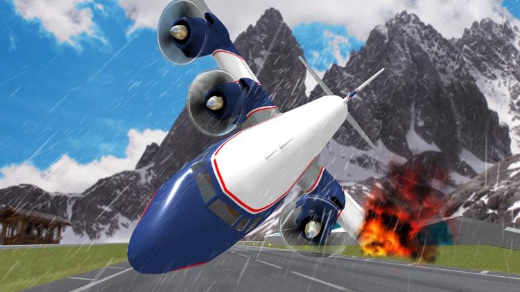 Winter Airplane Crash Landing Pilot Simulator Game