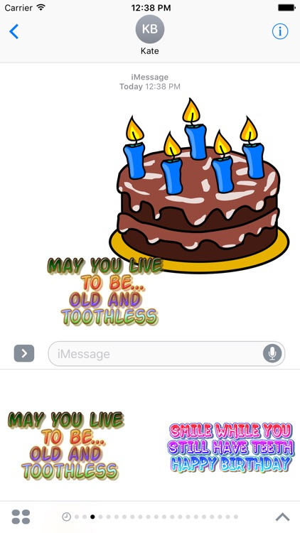 Birthday funny stickers for iMessage screenshot-4