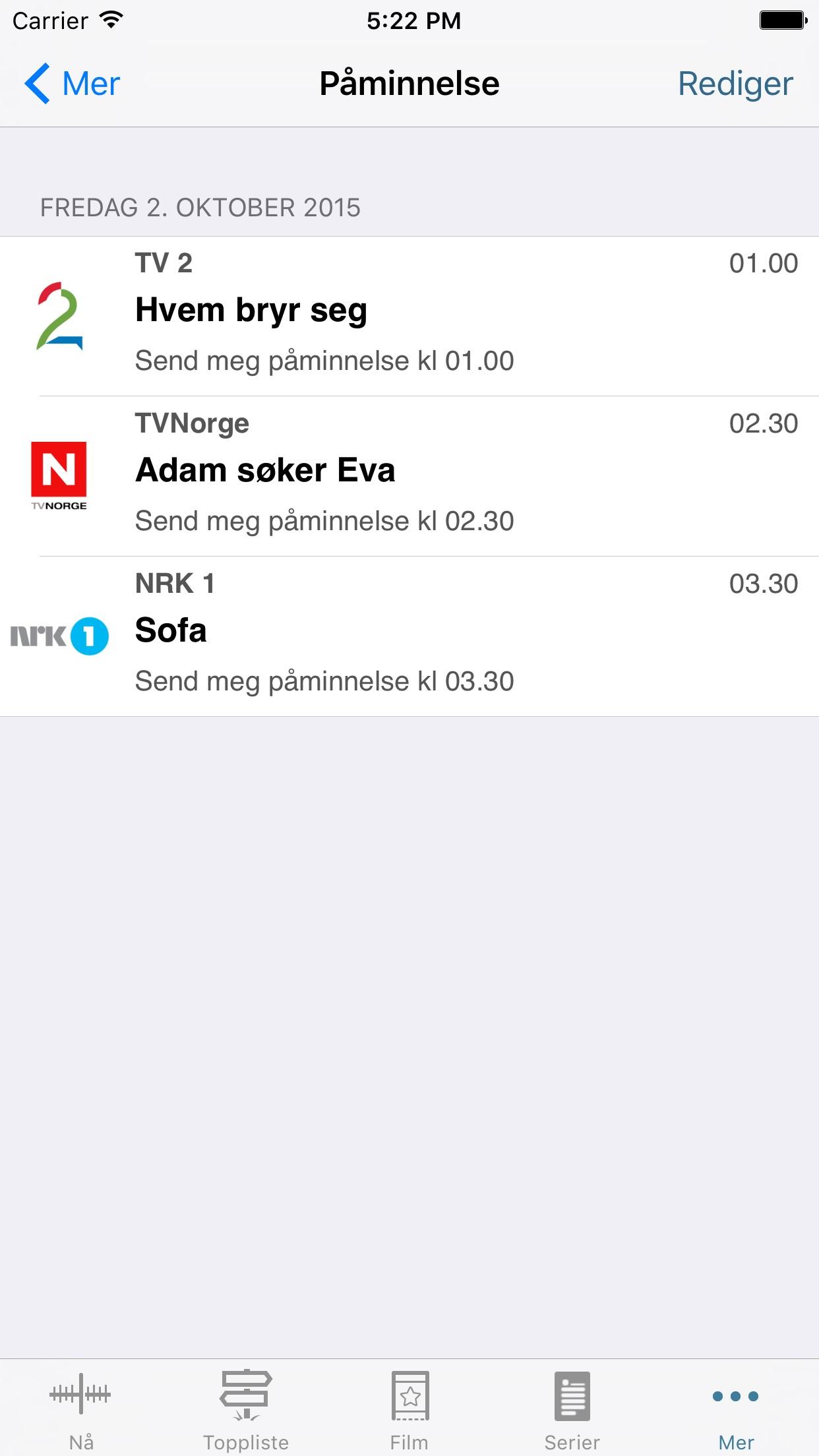TVGuiden Screenshot
