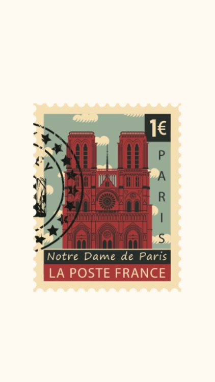 Stamps Paris Stickers