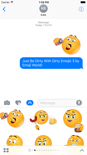 Dirty emoji iphone