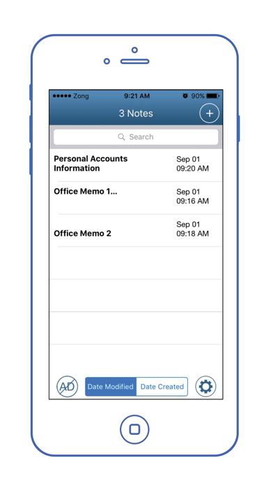 Easy Notes Locker - Password Protected Notepad screenshot three