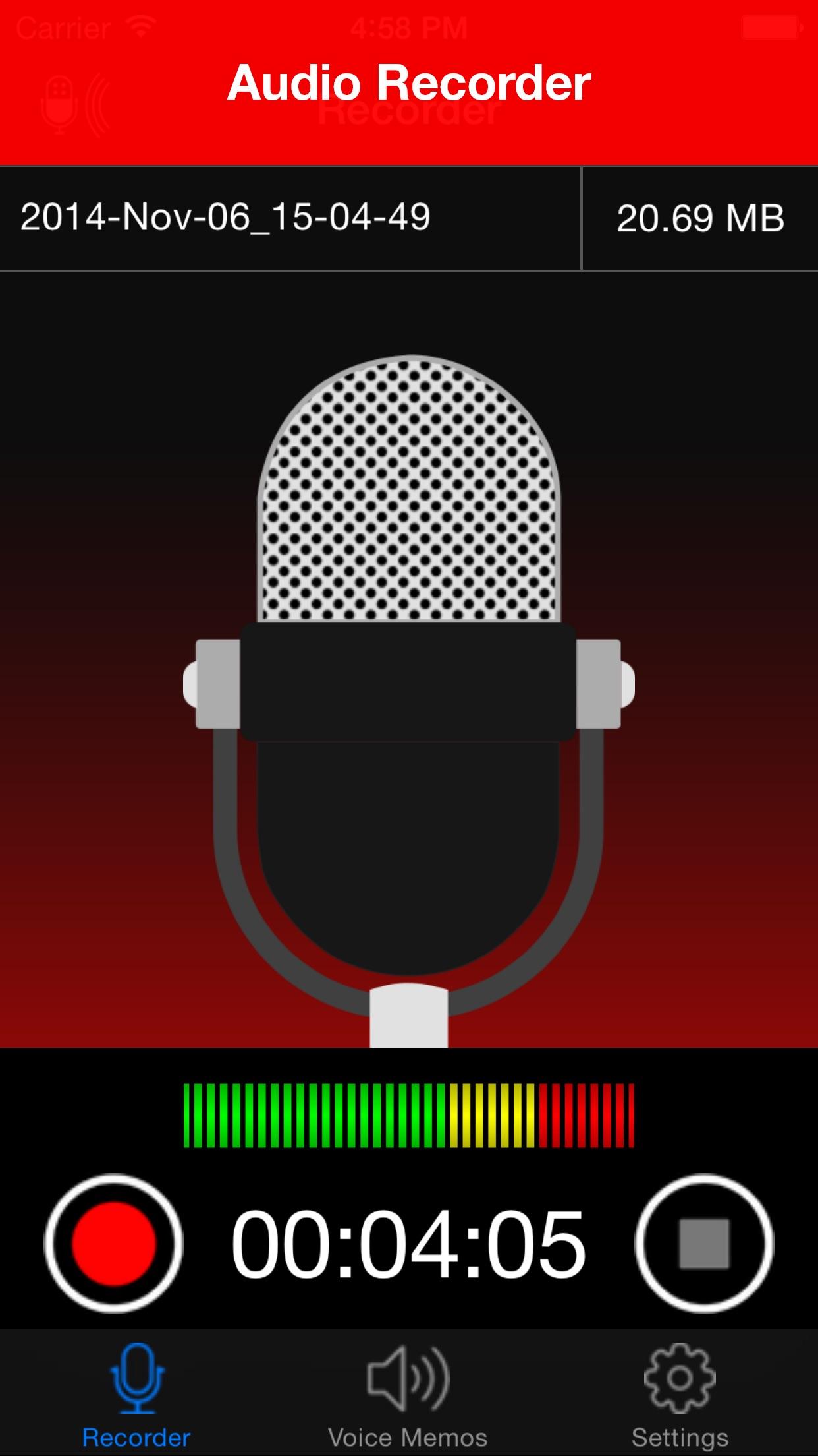 Voice Recorder Lite: HD Audio Recording & Playback Screenshot
