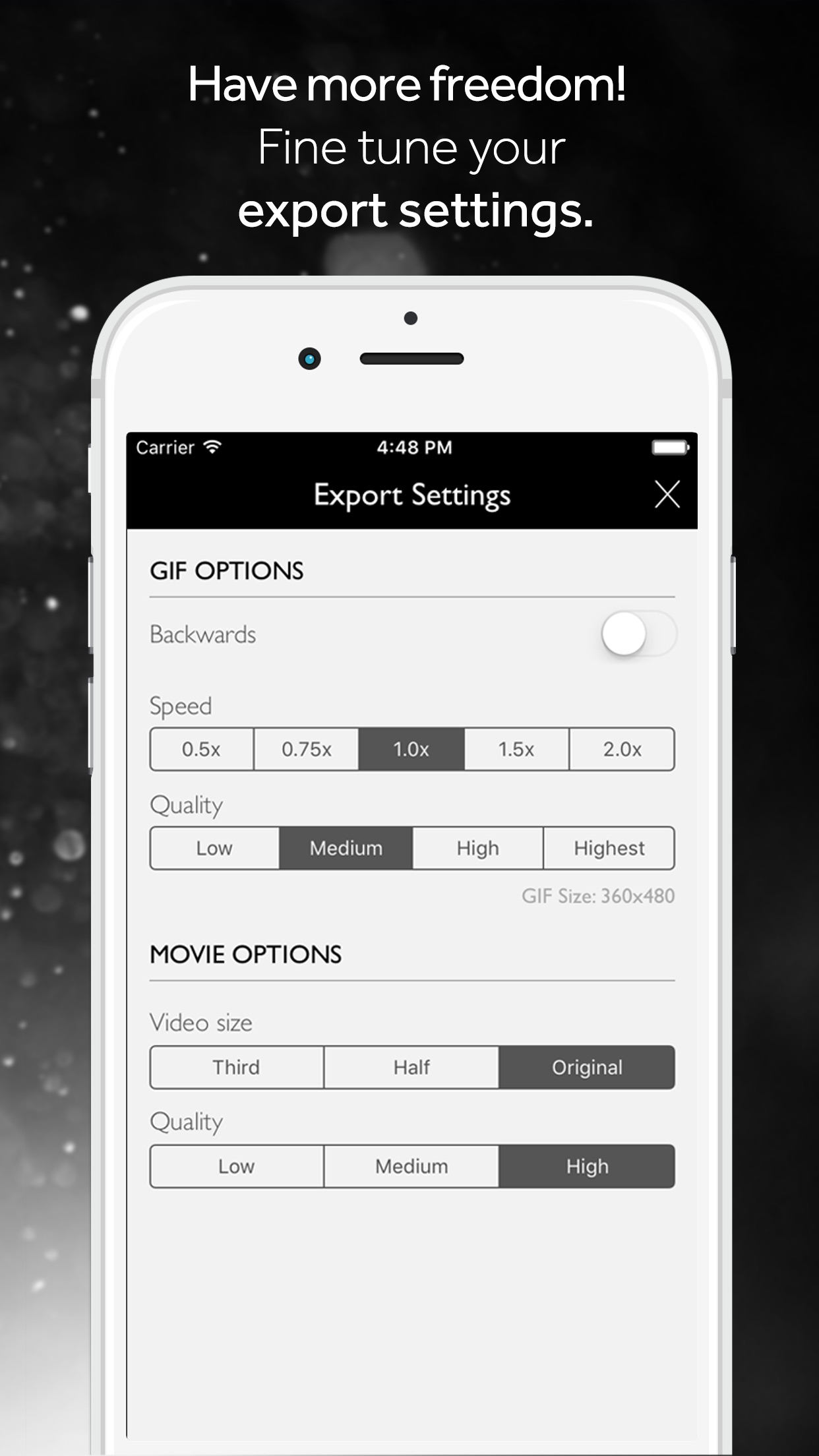 Screenshot do app Alive! Effects and Filters for Live Photos
