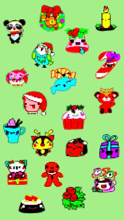 Cute Pixel Art Christmas Stickers