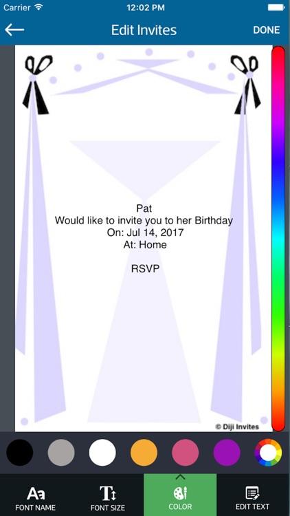 Diji Invites Lite screenshot-3