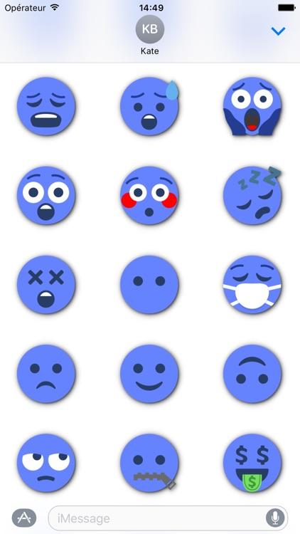 BLUE Emoji • Stickers for iMessage screenshot-3