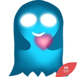 Cute Heart Glowing Ghost  2 stickers by CandyA$