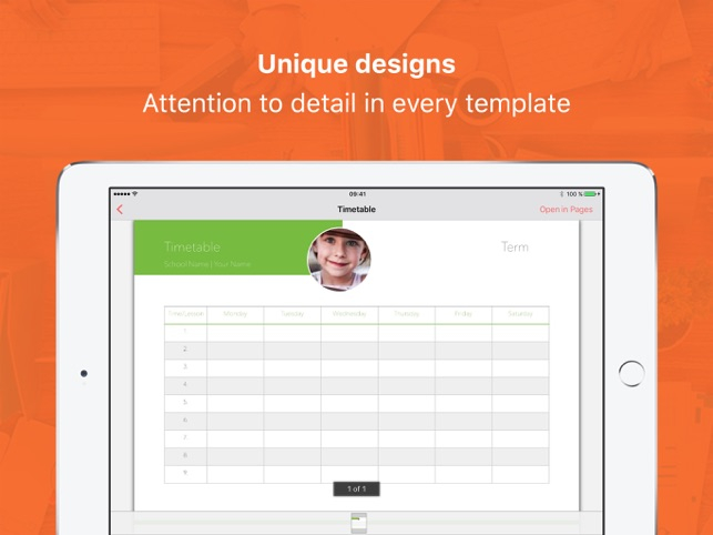 Vorlagen für Pages Professionel Screenshot