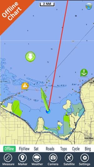 Lake Okeechobee Florida GPS fishing chart on the App Store