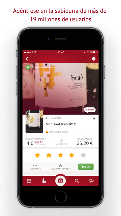 Screenshot for Vivino Wine Scanner in Colombia App Store