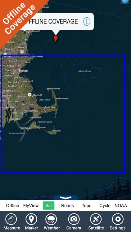 Marine: Cape Cod HD - GPS Map Navigator screenshot-4