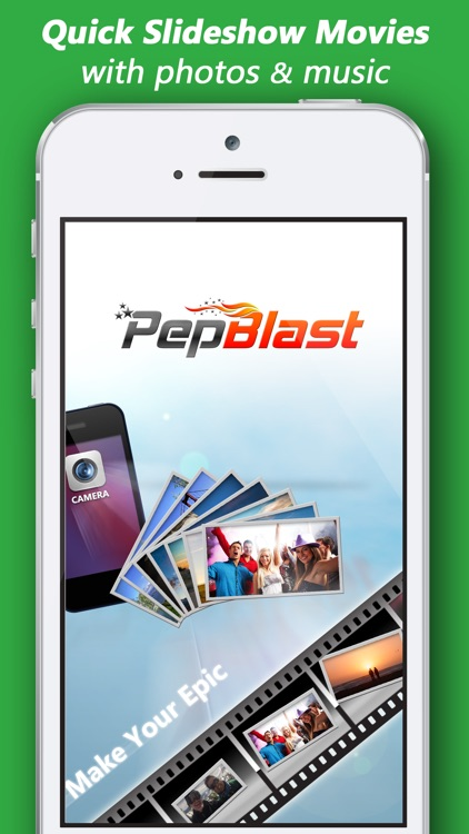 PepBlast Slide Show Maker with Music Pic Slideshow screenshot-0