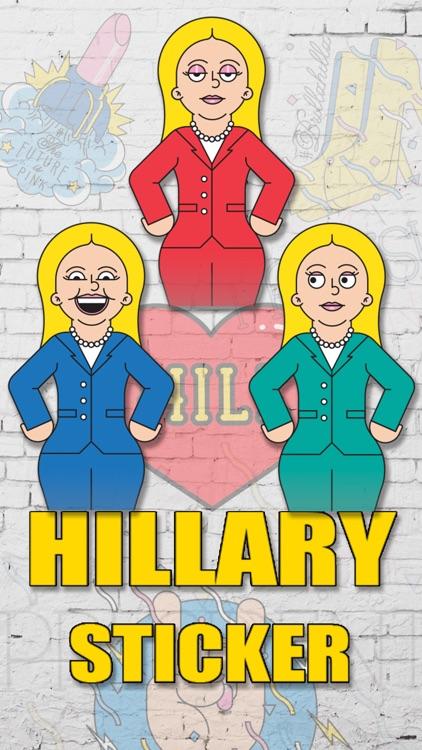 Emoji Stickers for Hillary Clinton screenshot-4