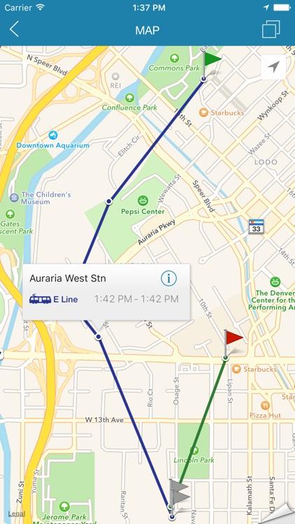 ezRide Denver RTD - Transit Directions for Bus and Light Rail including Offline Planner screenshot-3