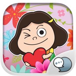 Girls Emoji Stickers Keyboard Themes ChatStick